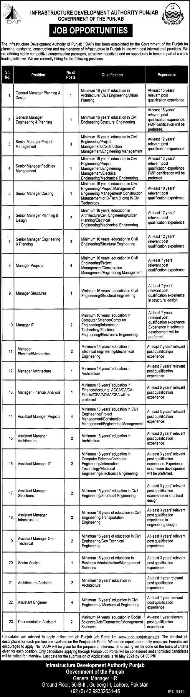 Infrastructure Development Authority jobs