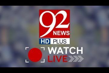92 News HD Live Streaming