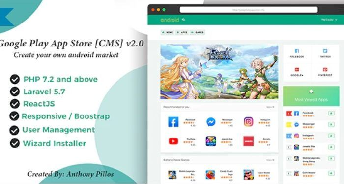 Google Play App Store CMS Download