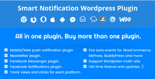 Smart Notification Wordpress Plugin v9.1.2